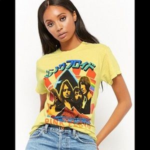 Pink Floyd Yellow Graphic Shirt by Forever 21 Sz L